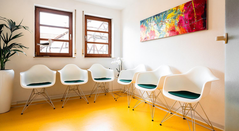 Wartezimmer der Zahnarztpraxis Dr. Britta Dietz